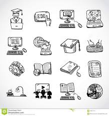 online education icon sketch stock vector image 40637772