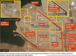 Djibouti Map Annotated Satellite Imagery Of The Chinese Base In Djibouti