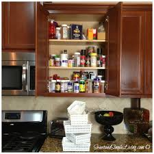 Spice Cabinet Organization Kitchen Organization Cheap And Easy Spice Cupboard
