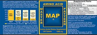 purium master amino acid pattern map master amino acid pattern 260 tablets of building