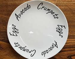 painted wedding plates personalized custom dinner plates etsy