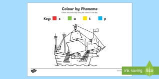 colour phoneme pirate ship phase 2 colour