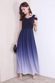 ombre dress restocked miranda cold shoulder ombre maxi dress in midnight xs