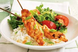 easy chicken skewers with peanut sauce kraft recipes