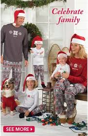 view all matching family pajamas pjs for the whole family