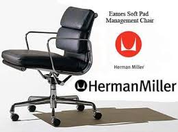 Cushions For Office Desk Chairs Eames Aluminum Group Executive Office Task Desk Chairs By Herman