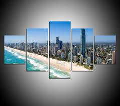 aliexpress com buy 5 panels beach of australia city painting for