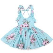 Old Fashioned Toddler Dresses Amazon Com Flofallzique Girls Cotton Vintage Print Floral