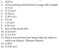 horizontal kinematics ws answers regents physics