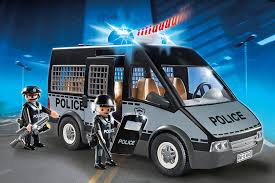 playmobil police van with lights and sound best educational