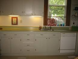 sheshe the home magician to paint or not to paint those ugly this kitchen probably hadn t been touched since the 40 s 50 s plywood cabinets with a horrible dark wood stain