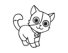 kitten coloring page lovely cat walking coloring sheet little kids u0027 book pinterest