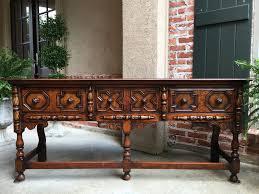 Oak Sofa Table by Antique English Carved Oak Sofa Table Jacobean Sideboard Buffet