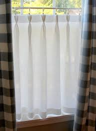 Linen Cafe Curtains Gorgeous Linen Café Curtain With Sweet Pinch Pleated Top
