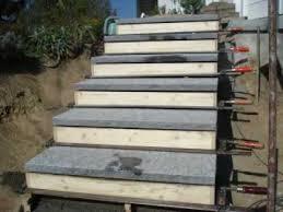 treppe betonieren treppe naturstein