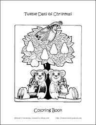 make your own 12 days of coloring book cover