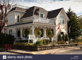 Canada House by House In Mahone Bay Nova Scotia Canada Stock Photo Royalty Free