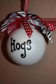 personalized razorback ornament ornaments
