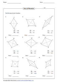 Sum Of The Interior Angles Of A Polygon Worksheet Quadrilateral Worksheets