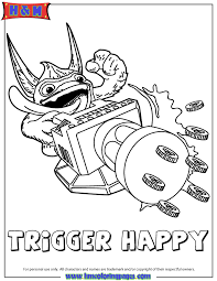 Skylanders Giants Tech Series2 Trigger Happy Coloring Page H M Happy Coloring Pages