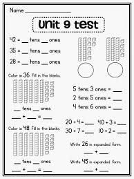 place value worksheet first grade free worksheets library