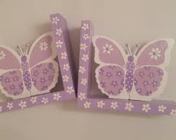 personalized bookends baby lavender bookends etsy
