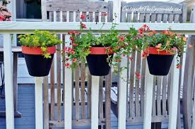 deck rail planter boxes planters for railings hooks lattice plant