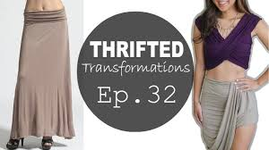 Draped Asymmetrical Maxi Skirt Thrifted Transformations Ep 32 Asymmetrical Draped Skirt