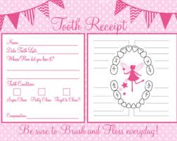 tooth fairy set official tooth fairy letter receipt