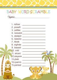 interesting baby shower word scramble game horsh beirut