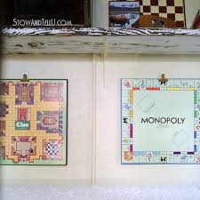 Game Room Basement Ideas - repurposed board games to art for a game room hometalk