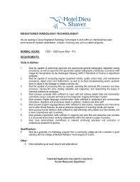 Casual Job Resume by Technician Job Description Radiology Resume Resume Cv Cover Letter