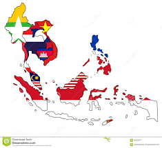 Southeast Asia Political Map by Southeast Asia Map Stock Illustration Image 58522371