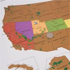 Alaska travel tracker images Scratch off usa map with national parks landmass jpg