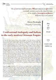 Ottoman Studies by Confessional Ambiguity And Sufism In The Early Modern Ottoman
