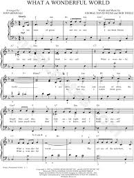 free printable sheet music for xylophone louis armstrong what a wonderful world sheet music in f major