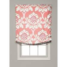 relaxed roman shade pattern white cottage custom stationary non operbale relaxed roman shade
