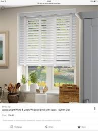 Wide Slat Venetian Blinds With Tapes White Venetian Blinds With Or Without Tape Please Mumsnet