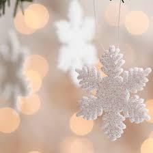 white glitter snowflake ornaments ornaments