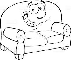 comment dessiner un canapé dessin animé souriant canapé cliparts vectoriels et plus d