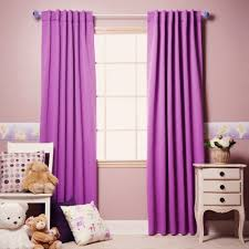 outstanding curtains for a purple bedroom with endearing color