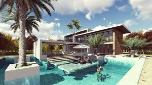 lumion landscape design and render modern vila design 13 sam