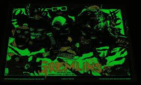 glow in the dark poster rhys cooper gremlins movie poster glow in the dark 2009 mondo