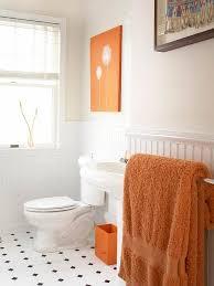 Wainscoting Bathroom Ideas Colors 41 Best Bathroom In Orange Color Images On Pinterest Bathroom