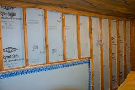 walk out basement wall insulated with dow foam board how to
