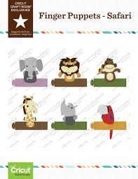 Cricut Craft Room - cricut craft room exclusives finger puppets safari cricut shop