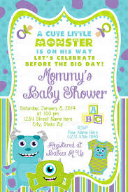inc baby shower monsters inc baby shower invitation by rockinrompers on etsy