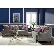 furniture of america allendari gray velvet upholstered 2 piece