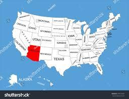 us map arizona state state classroom maps arizona road map major tourist