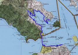 San Francisco Bike Map by Description Of A Bike Ride Around Part Of San Francisco Bay